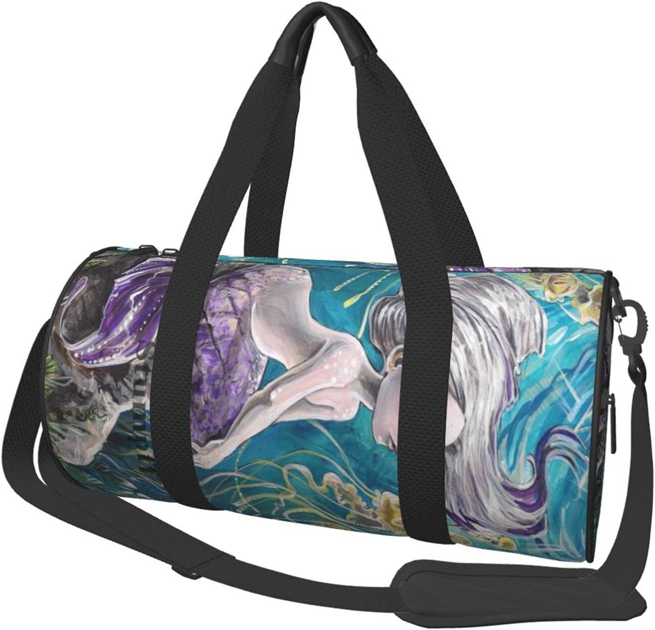 NCHOME Duffel Bag Purple Mermaid Roll Super special Max 67% OFF price Unique Travel W