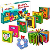 SVIKASTOYS51 Infant Toy, Baby Toys 3 to 6 Months, My First Baby Book 0-6 Months, Fabric Baby Cloth Book, Soft Book for Baby, Fabric Book for Infants 0 3 6 12 Months and Bonus Laundry Bag & an Apron