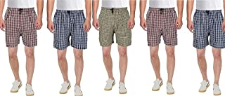Men Multicolor Cotton Blend Boxer Shorts Pack of 5