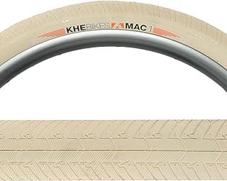 KHE MAC1 FLAT 20 x 40mm Folding White Tire (pair)