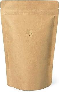 コーヒー紙袋 250g用 ジップ袋 自立袋 クラフト紙袋 内面 アルミ ヒートシーラー対応可能 チャック付き バルブ付き 10枚