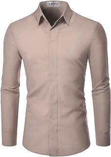 Cromoncent Mens Pocket Short Sleeve Lapel Neck Curved Hem Casual Plaid Button Down Shirts