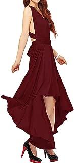 Women's Convertible Hi-Low Dresses Multi-Way Transformer Wrap Evening Bridesmaid Dress