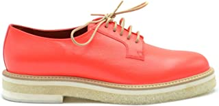 SANTONI Luxury Fashion Womens MCBI38416 Orange Lace-Up Shoes | Season Outlet