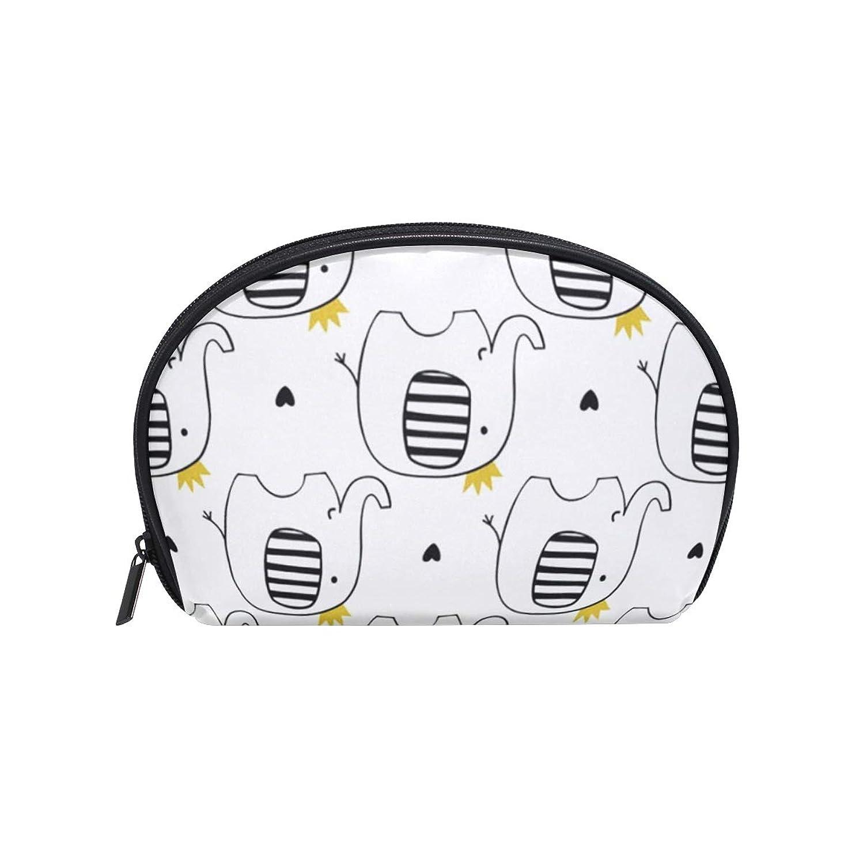ピアノ要塞インテリア可愛い 小象柄 半月 化粧品 メイク トイレタリーバッグ ポーチ 旅行ハンディ財布オーガナイザーバッグ