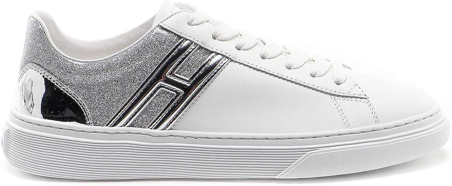 Hogan Sneakers H365 Bianco e Argento HXW3650J970NQC0351 Bianco ...