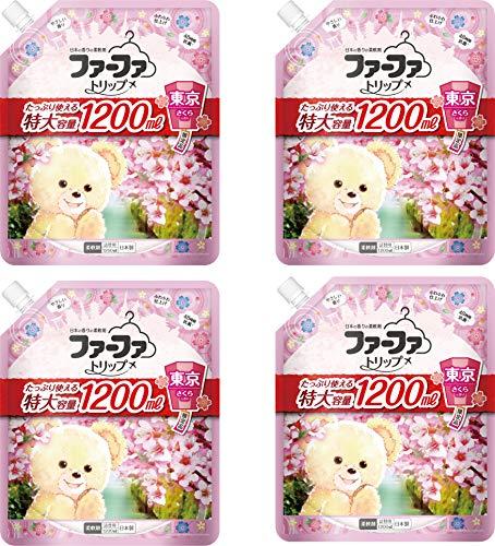 ファーファ トリップ 柔軟剤 東京 さくら の香り 詰替 (1200ml) 4個セット