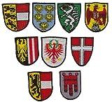 Vorarlberg Aufnäher - Österreichisches Landeswappen bestickte Sammler Edition - Austria Patch B&esland Flagge - Österreich Abzeichen gestickt Applikation zum aufnähen - 90x70mm