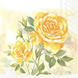 Celebrate the Home Rose Boutique 3-Ply Paper Luncheon Napkins, Yellow, 20-Count