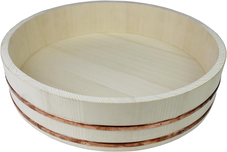 Reishunger Hangiri Bol en Bois, idéal pour debutants de Sushi (diamètre 39 cm) - Disponible en 30 cm Jusque 60 cm