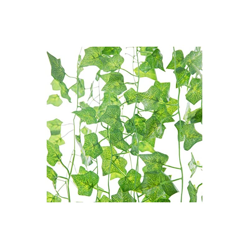 silk flower arrangements naidiler 84 ft 12 strands fake ivy leaves artificial ivy garland greenery decor faux green hanging plant vine for wall party wedding room home kitchen indoor & outdoor decoration