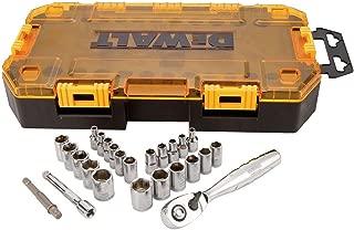 DEWALT Drive Socket Set, SAE/Metric, 1/4-Inch Drive, 25-Piece (DWMT73805) Brand DEWALT