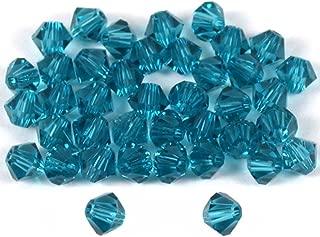 40 Indicolite Bicone Swarovski Crystal Beads 5301 4mm