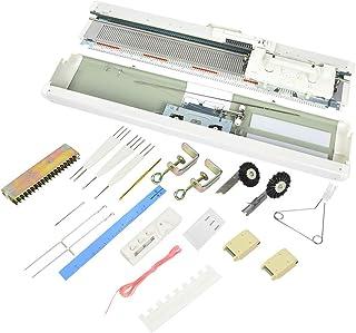 Machine à tricoter, ensemble de métier à tisser à 12 aiguilles domestique intelligent SK155 en plastique portable pour cha...