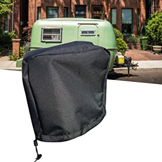 Yosoo Waterproof Jack Cover Black Dust Proof Electric Jack Protective Cover for Trailer Motorhome(35.5x12.7x25.4cm)