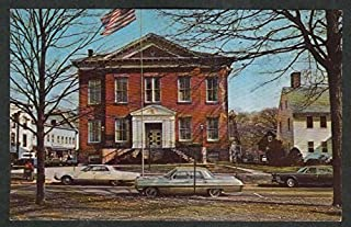 Town Hall of New Milford CT postcard 1960s