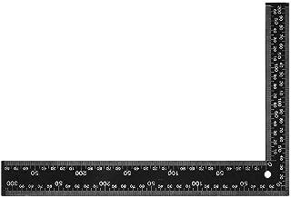 مسطرة بزاوية 100 درجة مترية مزدوجة الجوانب بزاوية مسطرة بزاوية 90 درجة أداة قياس التخطيط (اللون: أسود، الحجم: 60 × 40 سم)