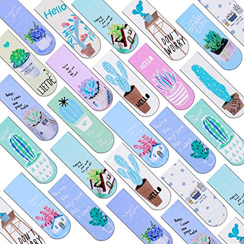 Magnetic Bookmarks, Selizo 36pcs Magnet Book Markers Cute Page Clips for Student Office Reading Stationery