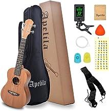 Apelila 23 inch Concert Ukulele Mahogany - Hawaii Guitar Mini Guitar Musical Instrument with Gig Bag,Strap,Nylon String,Tu...