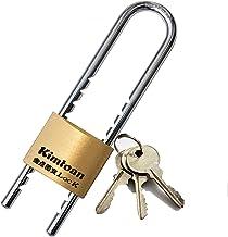 WXYZ Keyed Padlocks Lange straal sleutel hangslot, messing slot met 3 sleutels, binnen- en buitenbeveiliging anti-diefstal...