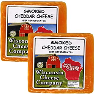 WISCONSIN CHEESE COMPANY'S: Smoked Cheddar Cheese Blocks (2 Pack)