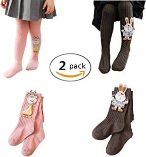 450306020b816 2 Pack Baby Girls Winter Warm Legging Pants Toddler Tights Stockings  Pantyhose