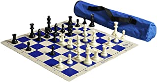 Quiver Chess Set Combination - Blue - Triple Weighted