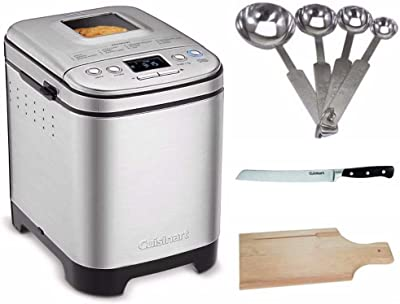 Cuisinart CBK-110 Bread Maker Bundle with Measuring Spoon Set, Bread Board and Bread Knife