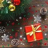 GWHOLE 100g Metallic Konfetti Weihnachten Tischdeko Streudeko DIY Handwerk Basteln - 5