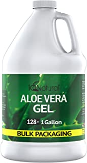 Aloe Vera Gel - Organic Aloe Vera Gel Cold Pressed - Organic Aloe for Healthy Skin, Hair & After Sun Relief - Made from Aloe Vera Juice Straight from the Plant [8oz Size] (GALLON)