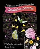 Jardins enchantés - 12 tabeaux détachables à gratter, inclus le crayon biface en bois