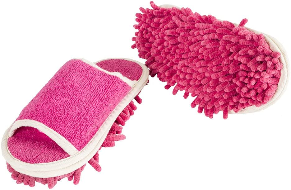 Slipper Genie Evriholder Microfiber Women's Slippers, 6-9, Pink