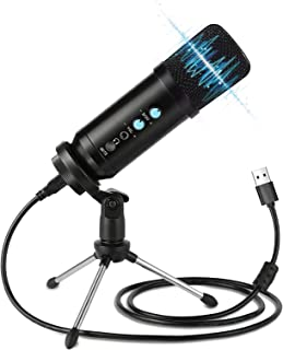 USB Microphone,Belita Amy Condenser Microphone Plug &Play Desktop Podcast Microphone for Computer Gaming Recording Streami...