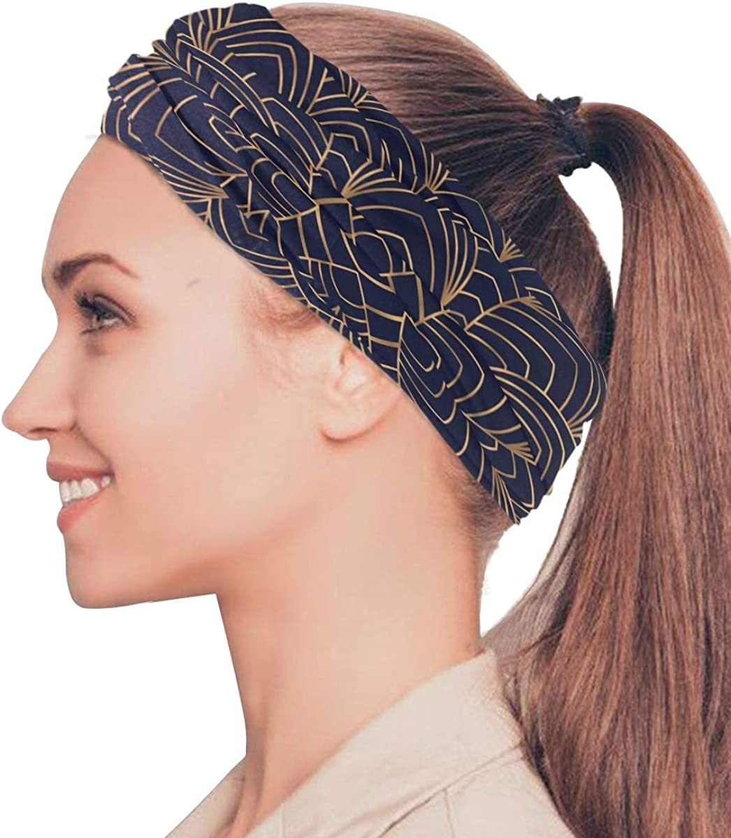 Face Mask Bandana for Women Men, Golden Floral Pattern Neck Gaiter Balaclava Face Cover Sun Dust Mask Magic Scarf Headwear