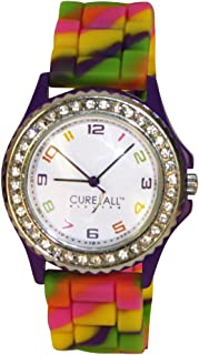 Tie Dye Multicolor Cancer Awareness Watch with Silicone Band