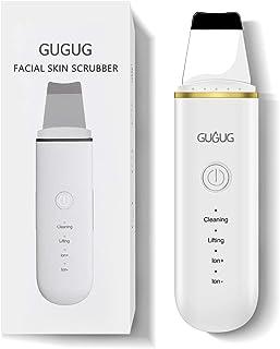 Limpiador Ultrasónico Facial, Skin Scrubber, Exfoliación de Cara, 4 Modos para Limpiar los Poros y Cuidar la Piel, USB Rec...
