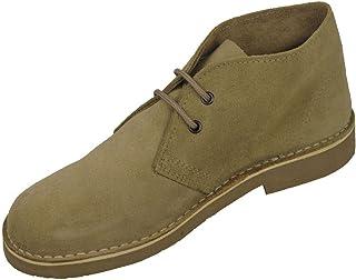 Roamer Unisex Round Toe Suede Leather Desert Boots Black