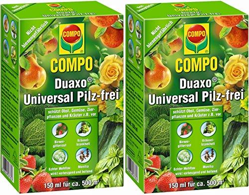 Compo Duaxo Universal Pilz-frei, Bekämpfung von Pilzkrankheiten an Obst, Gemüse, Zierpflanzen und Kräutern, Konzentrat inkl. Messbecher, 300 ml