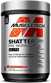 Pre Workout for Men & Women | MuscleTech Shatter Elite | Preworkout Energy Powder | Max Strength for Explosive Energy | 8 ...