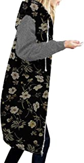 Darringls Overgangsjas voor dames, herfst, parka, stoffen jas, lang sweatjack met capuchon, softshelljack, hoge kraag, cap...