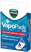 Vicks VapoPads, 6 Count – Soothing Menthol Vapor Pads for Vicks Humidifiers, Vaporizers, Waterless Vaporizers, and Plug-In...