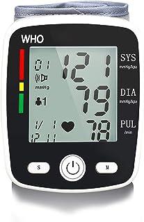 HGYLIOE Voz electrónica la presión Arterial Monitor, USB Monitor de presión Arterial de muñeca Recargable