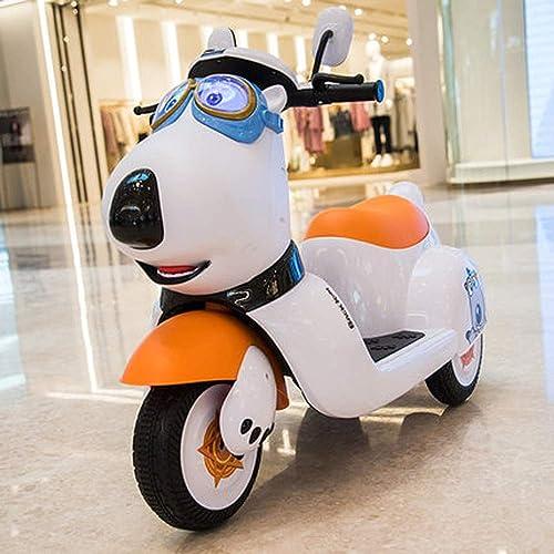 LONGLONGJINGXIAO Moto électrique pour Enfants - Tricycle - Petite Voiture - Plus de 3 Ans - Conduite de Plus d'une Heure - Garçon ( Couleur   B )