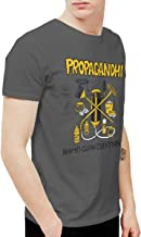 Douglas-A Mens Fashion Propagandhi How to Clean Everything T Shirt and Washed Denim Hat Casquette Deep Heather