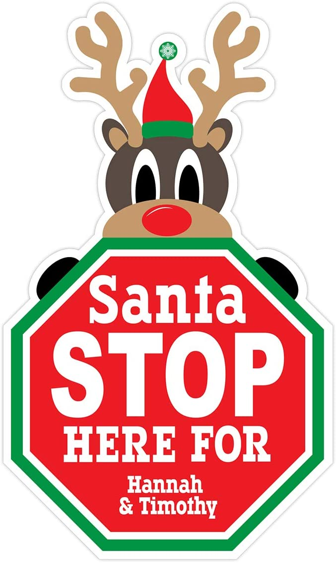 Interstate SignWays Customizable Christmas Stop Limited Special Price Outlet ☆ Free Shipping H Reindeer Santa