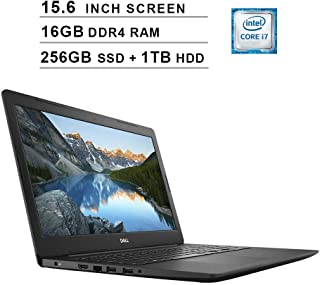 Dell 2019 Newest Inspiron 15 5000 15.6 Inch FHD 1080P Laptop (Intel Core i7-7500U up to 3.5 GHz, 16GB RAM, 256GB PCIe SSD (Boot) + 1TB HDD, Intel HD 620, WiFi, Bluetooth, HDMI, Windows 10)