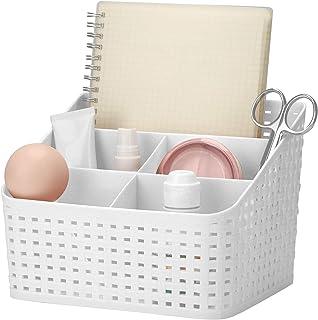 Support de rangement cosmétique, boîte de rangement de bureau en plastique boîte de finition ajourée multi-grille organisa...