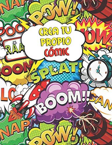 Crea tu Propio Cómic: Cree su Propio Libro de Historietas (A4) - 110 Páginas Blanco Para Adultos y Niños - Variedad de Modelos de Paneles (3,5,7 & 9 Paneles)