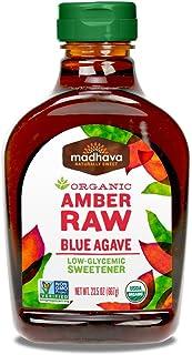Madhava Organic Agave Nectar, Amber, 23.5 oz