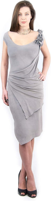 Anna Perena Elegant Asymmetric fit&Flare Summer Dress Light purplec